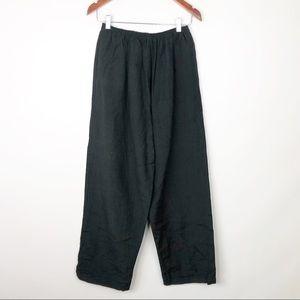 Pants - Vintage No Brand Linen Pants Black